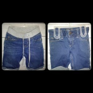 2 pairs of Justice Girl size (6) shorts!